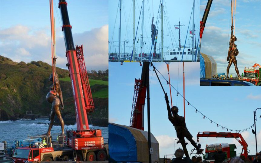 Sparrow Crane Hire craned Verity into position