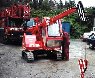 CX220 1T & 2T Mini Mini Tracked Crane Hire