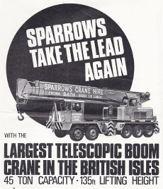 sparrow crane advert