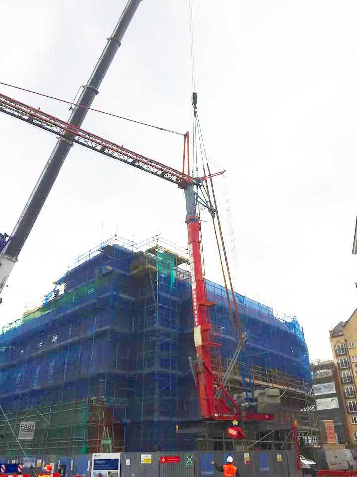 Self Erecting Pedestrian Operated Tower Crane