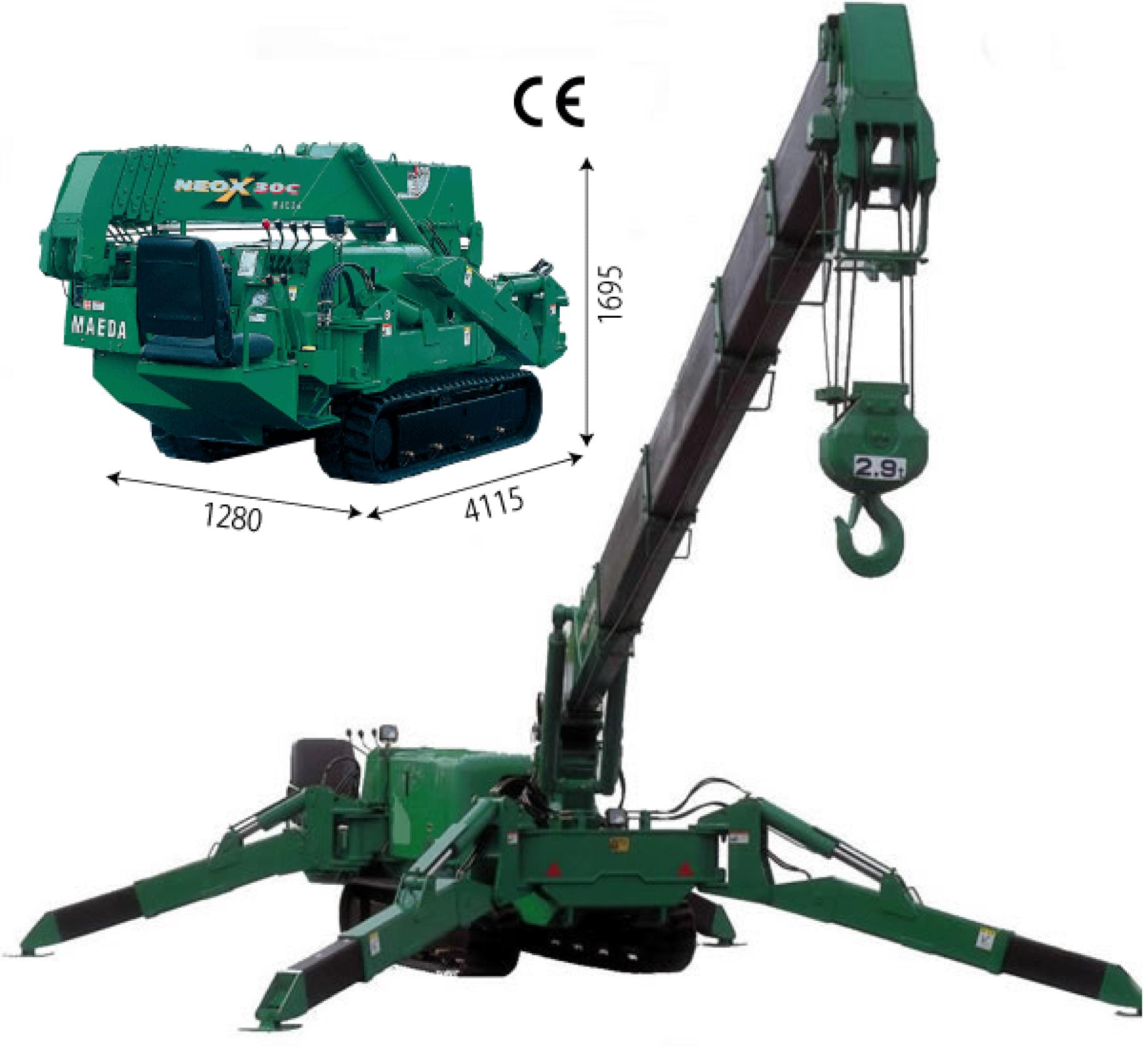 Maeda MC305 Mini Crane Hire
