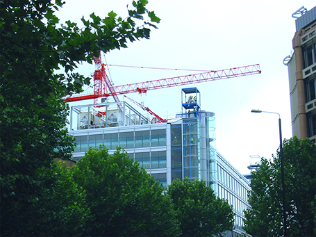 rooftop crane London