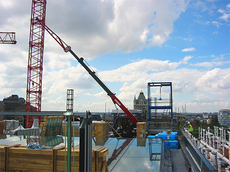 Roof top Mini Crane London