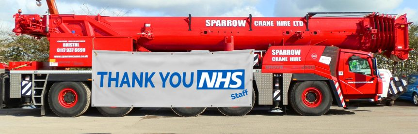 Sparrow Crane Hire Thank You NHS