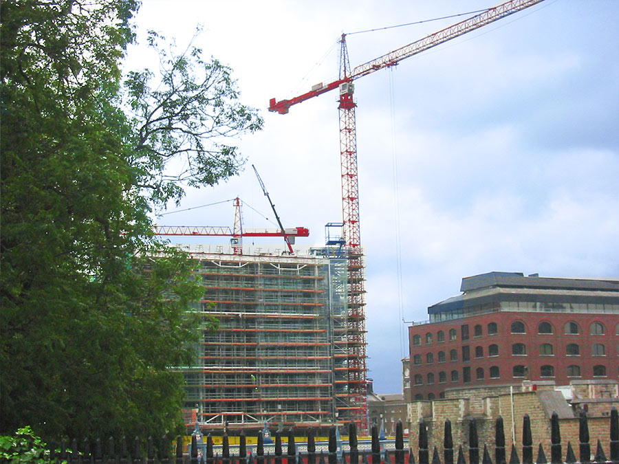 city tower cranes
