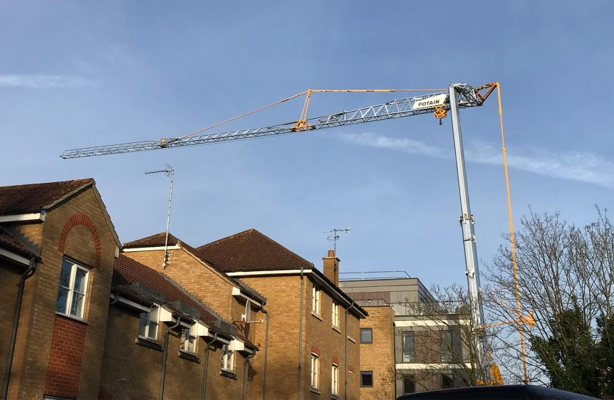 Potain Hup 40-30 self-erecting tower crane