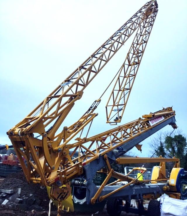 erecting a Self Erecting Crane