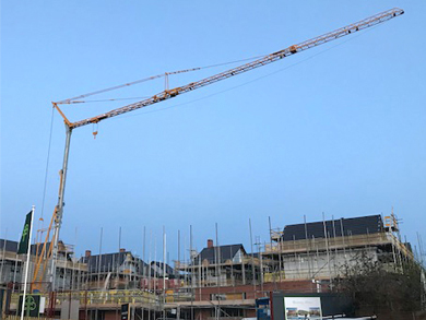 self erecting crane Potain Igo 50
