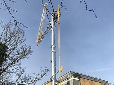 self erecting crane potain hup 40 30