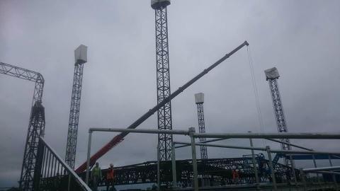 Glastonbury crane hire scaffold