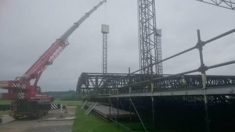 Glastonbury scaffold crane ift