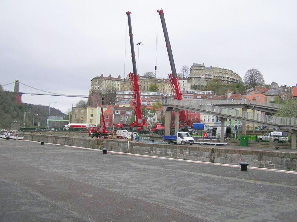 crane lift at lock river avon