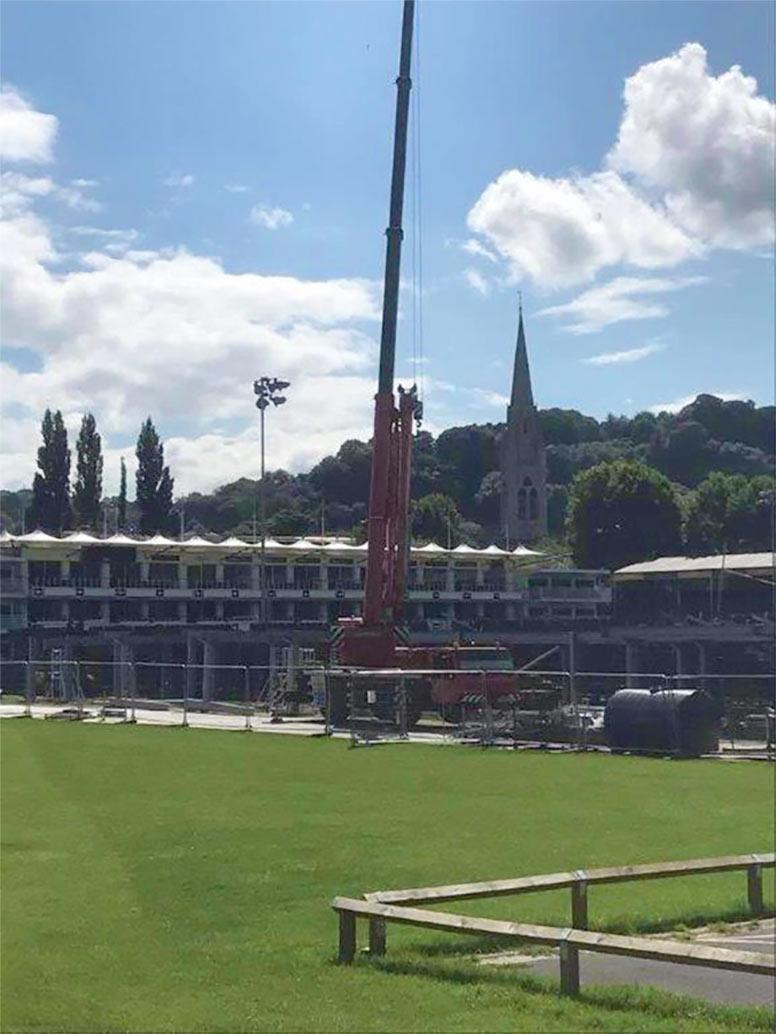 Bath Recreation ground crane hire AC35