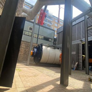 Crane-Lift of boiler