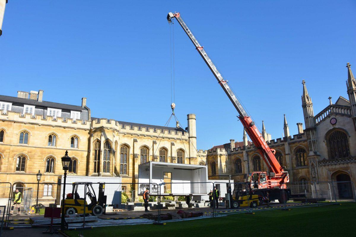 Crane hire Corpus Christi Cambridge