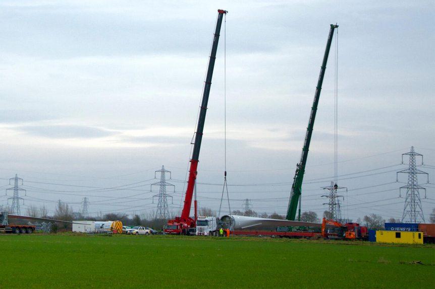Crane lift Magor South Wales