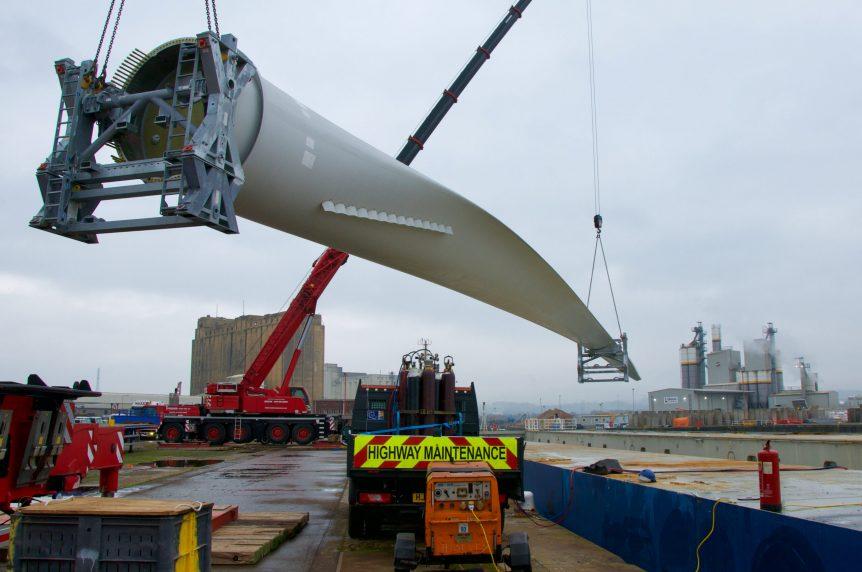 wind turbine Avonmouth docks