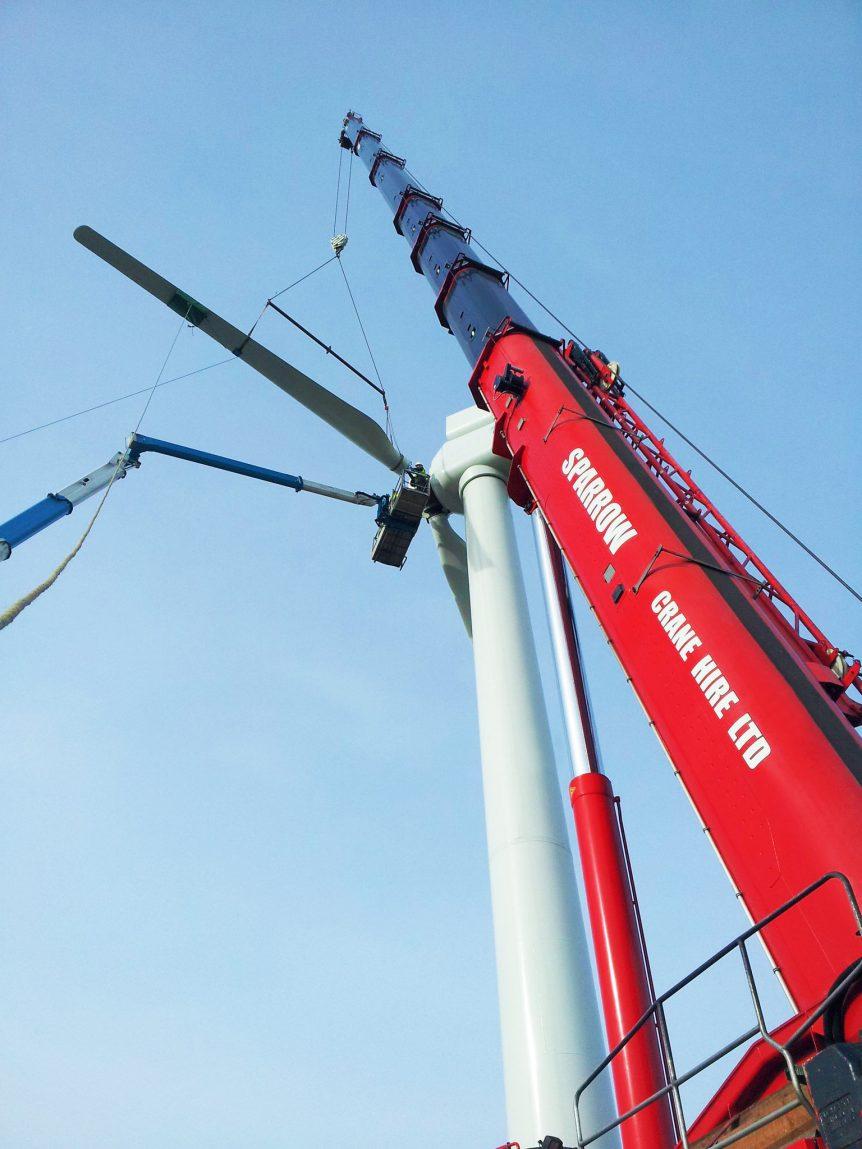 wind turbine crane