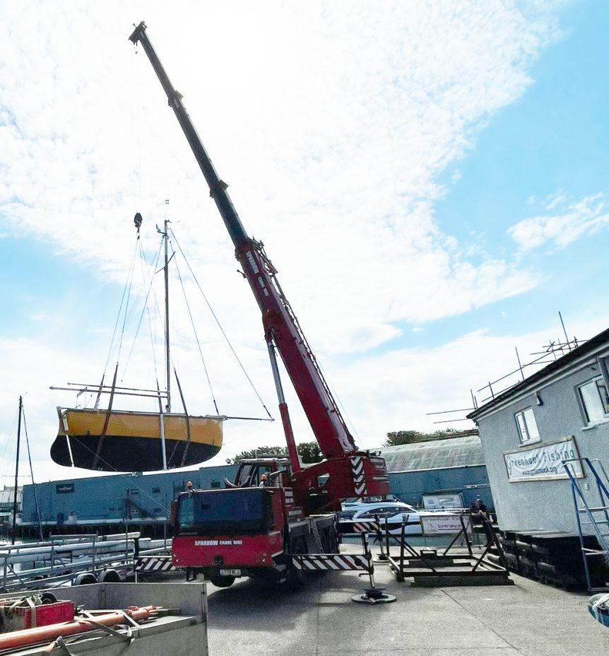 boat crane lift Plymouth