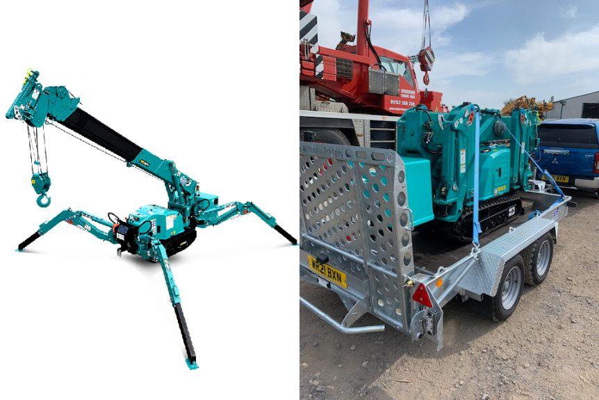 Maeda MC285C-3 spider crane crane